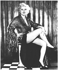 Mae West, 1932 by Irving Lippman, for Paramont. For her film debut in Night After Night.