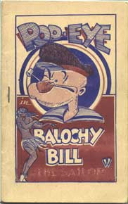 Popeye in Balochey Bill a 1930's ponographic comic